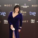 Loles León en la alfombra roja de los Goya 2013