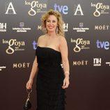 Miriam Díaz Aroca en la alfombra roja de los Goya 2013
