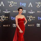 Macarena Gómez en la alfombra roja de los Goya 2013