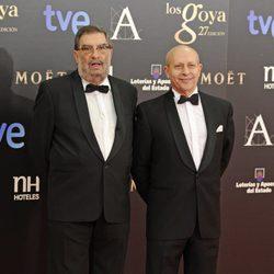 Enrique González Macho y José Ignacio Wert en la alfombra roja de los Goya