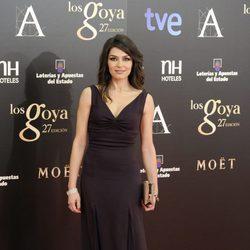 Marta Fernández en la alfombra roja de los Goya 2013