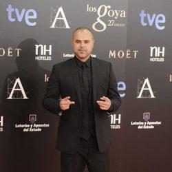 Juan Magán en la alfombra roja de los Goya 2013