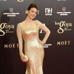 Cristina Brondo en la alfombra roja de los Goya 2013