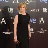 Ana Wagener en la alfombra roja de los Premios Goya 2013
