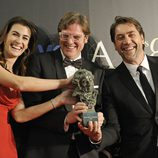 Goya 2013 con Javier Bardem, Lilly Hartley y Álvaro Longoria