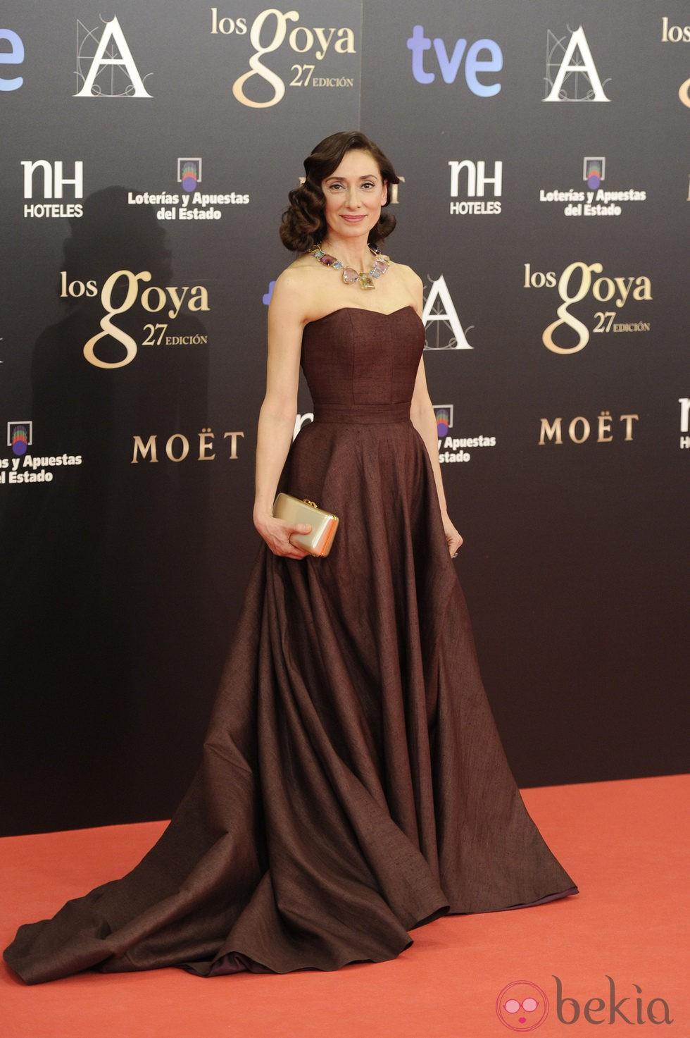 Rosana Pastor en la alfombra roja de los Goya 2013