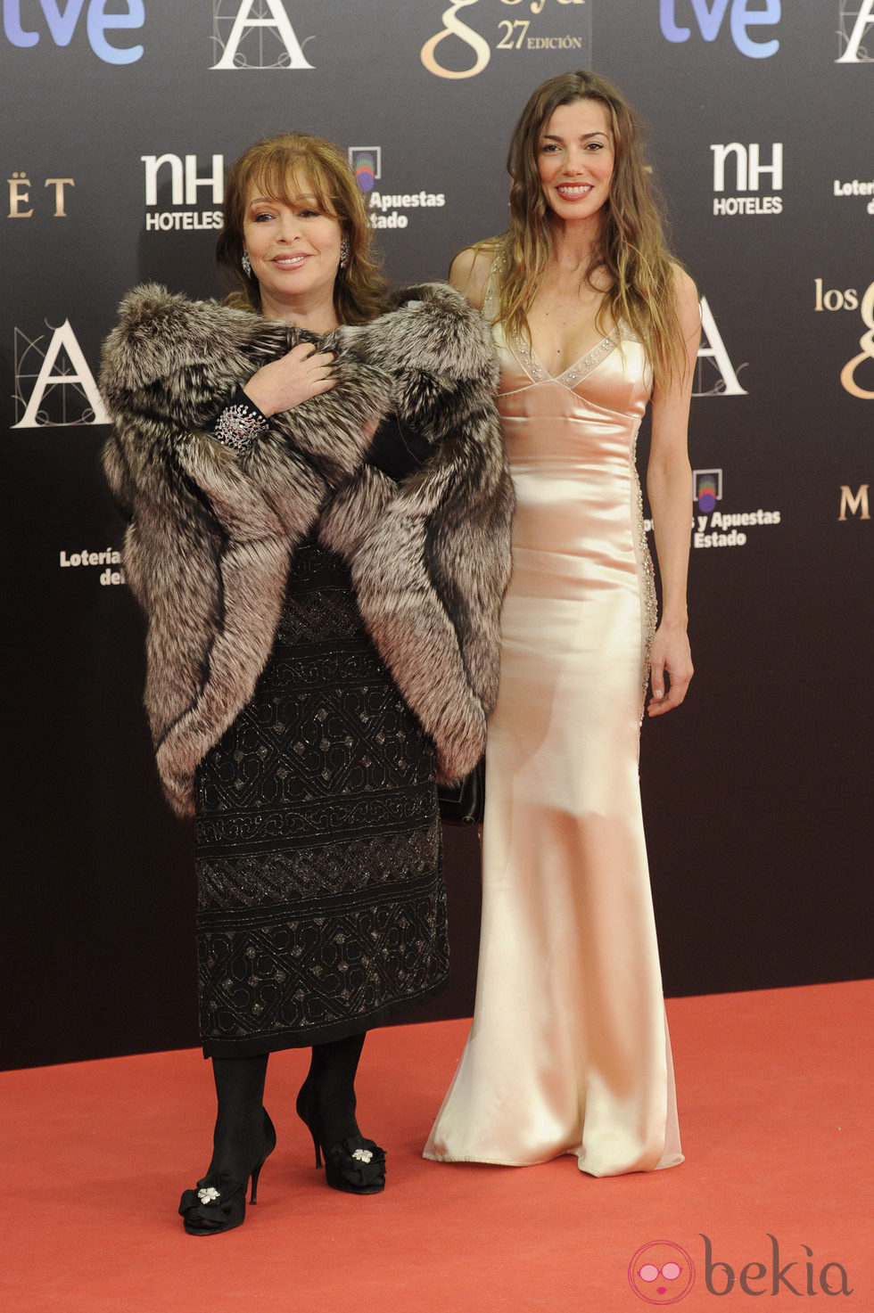 Massiel en la alfombra roja de los Goya 2013