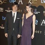 Eduardo Chapero-Jackson y Marta Fernández en la fiesta posterior a los Premios Goya 2013