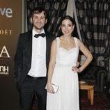Raúl Arévalo y Alicia Rubio en la fiesta posterior a los Premios Goya 2013