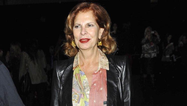 Carmen Alborch en el desfile de Francis Montesinos en Madrid Fashion Week otoño/invierno 2013/2014