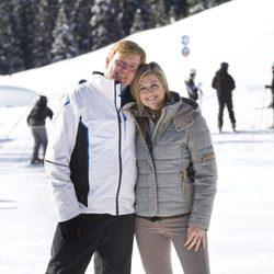 Guillermo y Máxima de Holanda durante sus vacaciones de invierno en Austria