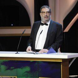 Enrique González Macho da el discurso institucional en los Goya 2013