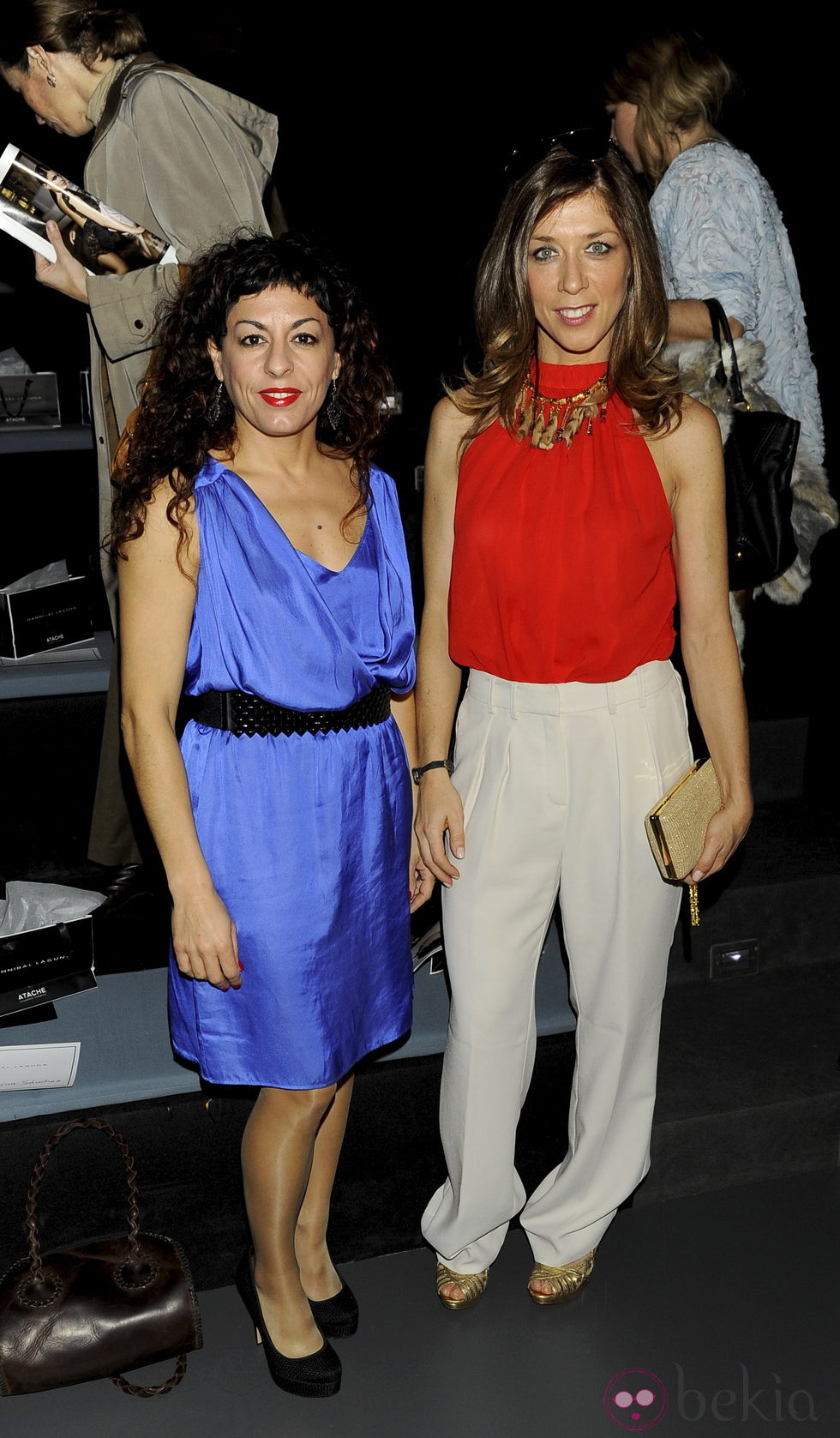 Cristina Medina y Eva Isanta en el desfile de Hannibal Laguna en la Madrid Fashion Week otoño/invierno 2013/2014