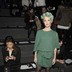 Vega en el desfile de Rabaneda y María Barros en la Madrid Fashion Week otoño/invierno 2013/2014
