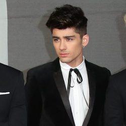 Zayn Malik en la alfombra roja de los Brit Awards 2013