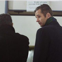 Iñaki Urdangarín y su abogado dentro del juzgado número 3 de Palma de Mallorca