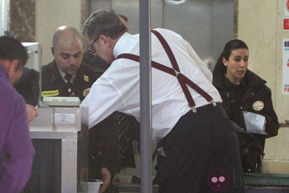 Carlos García Revenga pasa el control de seguridad del juzgado