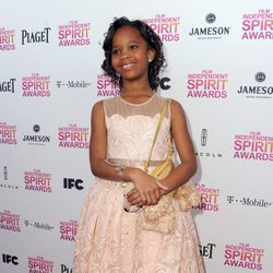 Quvenzhané Wallis en los Independent Spirit Awards 2013