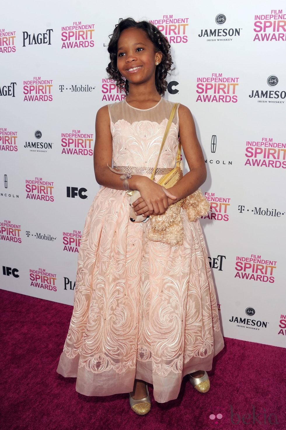 Quvenzhané Wallis en los Independent Spirit Awards 2013