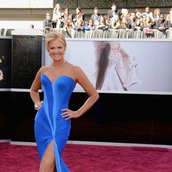 Nancy O'Dell en la alfombra roja de los Oscar 2013