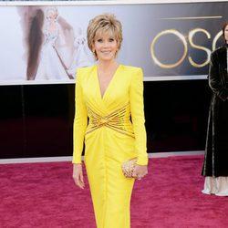 Jane Fonda en la alfombra roja de los Oscar 2013
