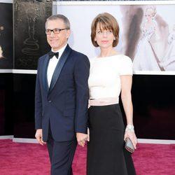 Christoph Waltz y su mujer Judith Holste en la alfombra roja de los Oscar 2013
