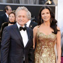 Catherine Zeta Jones y Michael Douglas en los Oscar 2013