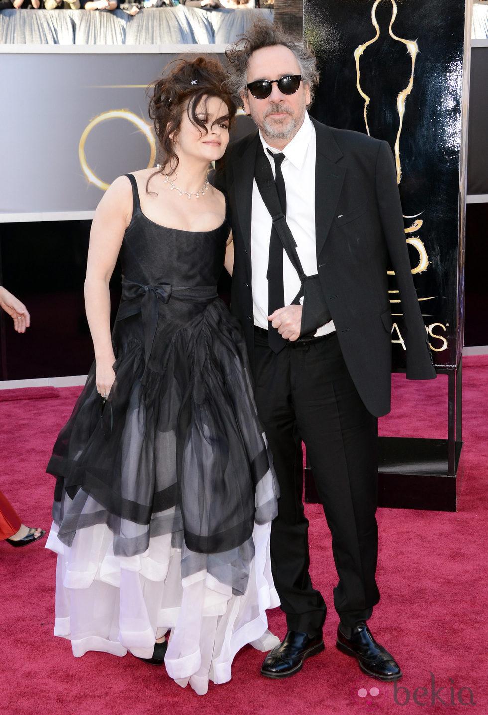 Helena Bonham Carter y Tim Burton en los Oscar 2013