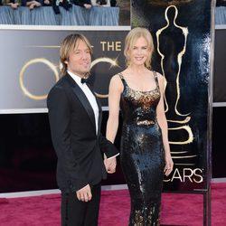 Nicole Kidman y Keith Urban en los Oscar 2013