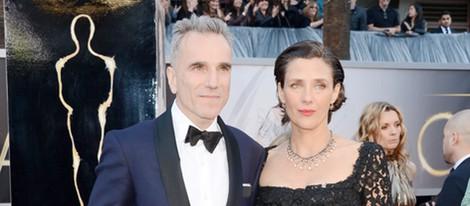 Daniel Day-Lewis y Rebecca Miller en la alfombra roja de los Oscar 2013