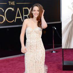 Kristen Stewart en la alfombra roja de los Oscar 2013