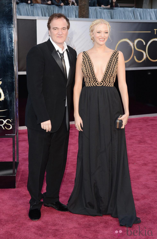 Quentin Tarantino y Lianne Spiderbaby en los Oscar 2013