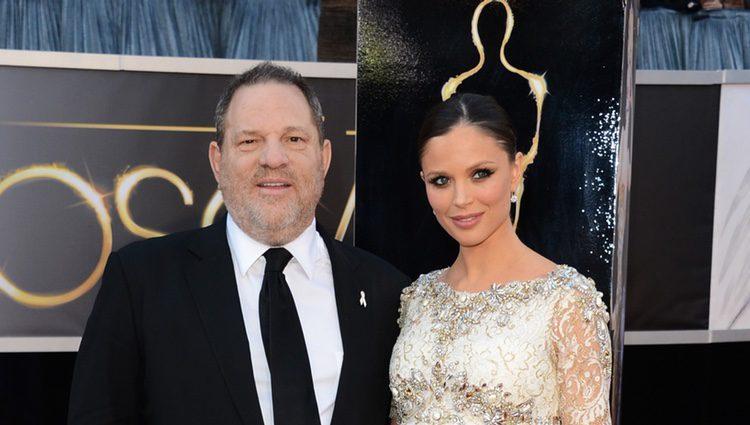 Harvey Weinstein y Georgina Chapman en los Oscar 2013