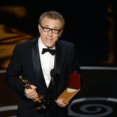 Christoph Waltz recogiendo el Oscar 2013 a Mejor actor de reparto