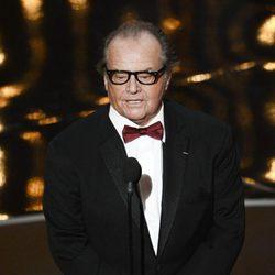 Jack Nicholson en la gala de los Oscar 2013