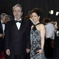 Tommy Lee Jones y Dawn Laurel-Jones en los Oscar 2013