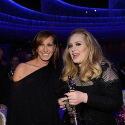 Donna Karan y Adele en la fiesta Governors Ball tras los Oscar 2013
