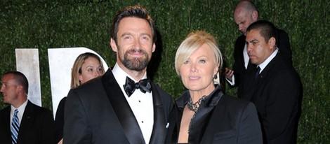 Hugh Jackman y Deborra Lee Furness en la fiesta post Oscar 2013 organizada por Vanity Fair