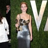 Jennifer Lawrence en la fiesta post Oscar 2013 organizada por Vanity Fair