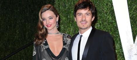 Miranda Kerr y Orlando Bloom en la fiesta post Oscar 2013 organizada por Vanity Fair