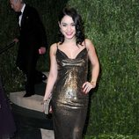 Vanessa Hudgens en la fiesta post Oscar 2013 organizada por Vanity Fair
