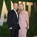 Jason Statham y Rosie Huntington-Whiteley en la fiesta post Oscar 2013 organizada por Vanity Fair