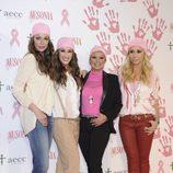 Eva González, Malú, Terelu Campos y Marta Sánchez en un acto contra el cáncer de mama