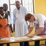 El Príncipe Harry amansando en Lesotho