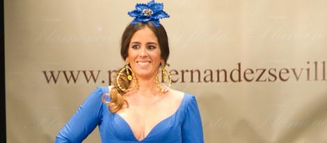 Anabel Pantoja desfilando con la colección primavera/verano 2013 de Pepe Fernández