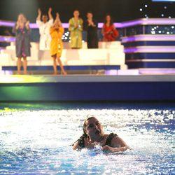 Falete saliendo del agua tras saltar desde cinco metros en 'Splash! Famosos al agua'