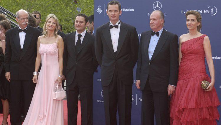 Corinna zu Sayn-Wittgenstein con el Rey Juan Carlos, la Infanta Cristina e Iñaki Urdangarín