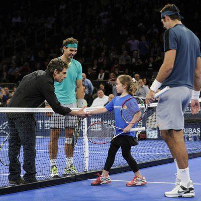 Rafa Nadal, Ben Stiller y Del Potro en el Madison Square Garden