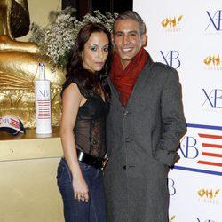 Pitingo y su mujer Verónica Fernández en la fiesta de presentación de un cóctel