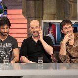 Hugo Silva, Javier Cámara y Raúl Arévalo en 'El hormiguero' con 'Los amantes pasajeros'
